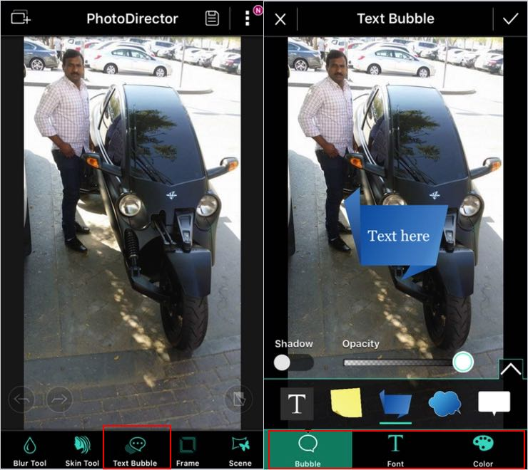 add text to photo in iPhone, iPad and iPod Touch