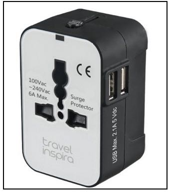 Travel time charging adapter