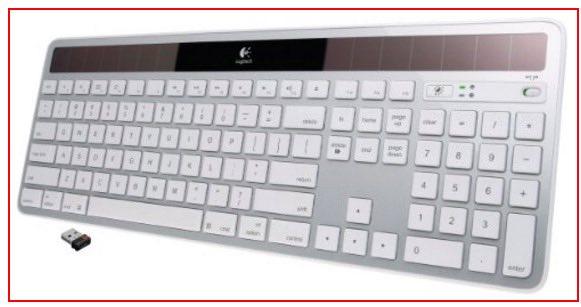 Solar Bluetooth Keyboard for Mac