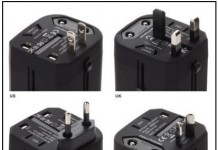 Power adapter for multiple country