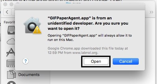 Open Third party App on Mac OS X