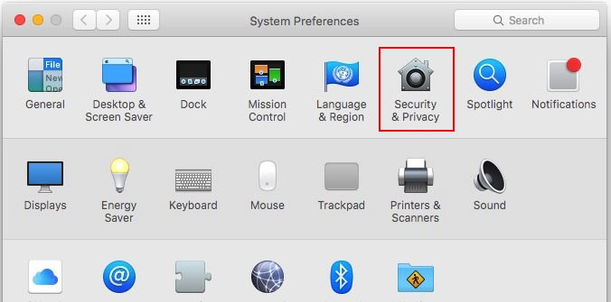 Security and Privacy setting on Mac OS X