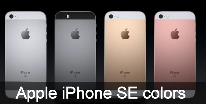 Apple iPhone SE colors silver, Gold, rose gold, Space gray,