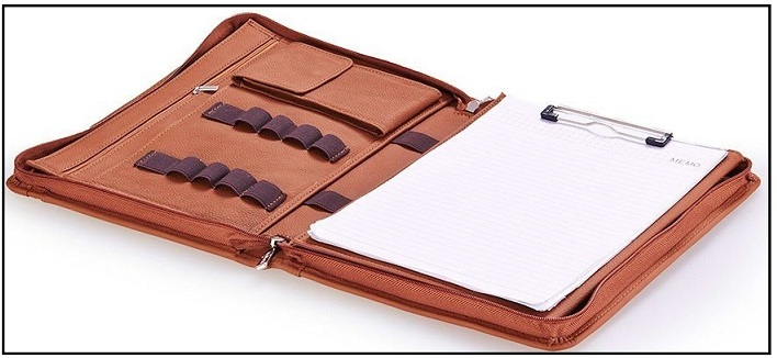 Professional leather case for iPad Pro with notepad