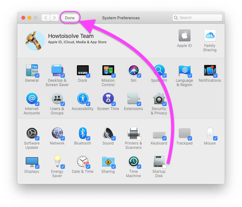 Hide icon option from system preferences settings on mac