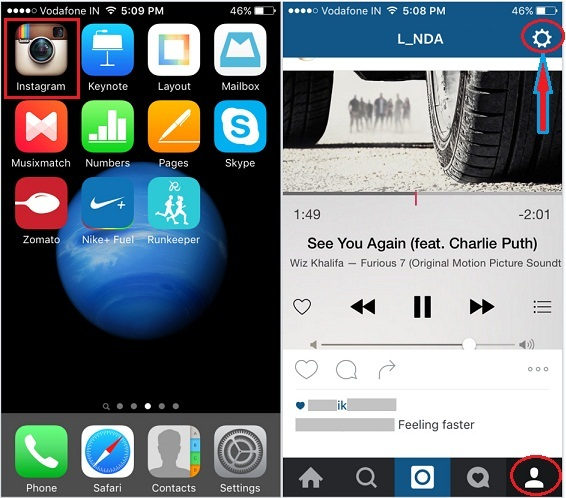 wipe Clear instagram Search history on iPhone