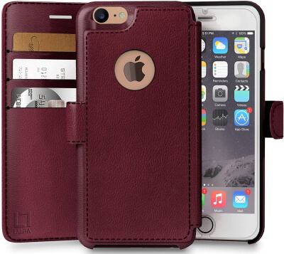 LUPA Premium Wallet Folio for iPhone 6