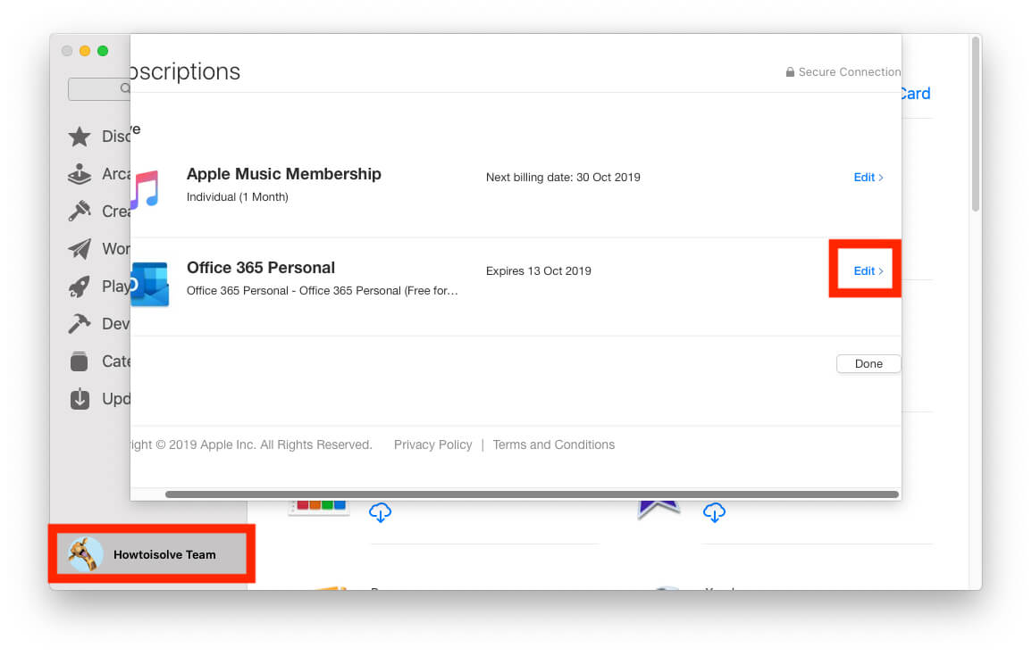 Way 2 - Manage Subscription from mac App Store on Mac-2