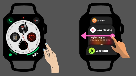 Open App Switcher screen on Apple Watch using Side button
