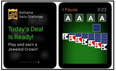 Solitaire Apple watch game 2015 best