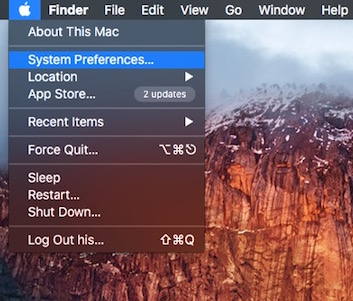 System Preference on Mac OS X