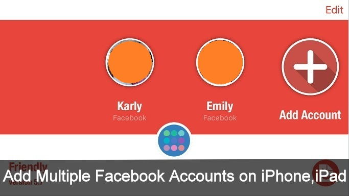 How to add multiple facebook accounts on iPhone 6S, IOS 9