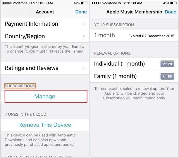 Turn off Auto-renewal YouTube Red membership on iPhone, iPad