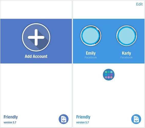 best app to add multiple Facebook accounts on iPhone, iPad