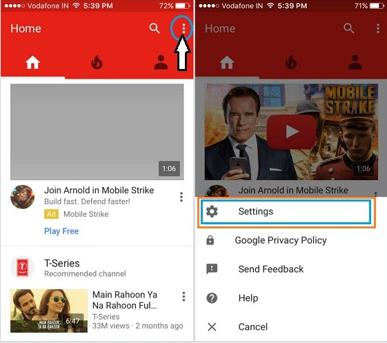 pair between iPhone and Smart tv to play YouTube video - control YouTube from iPhone to TV
