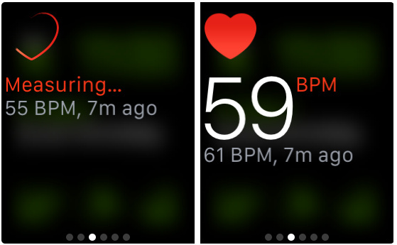 Turn on Heart rate Glance on Apple Watch- check heart rate on Apple watch