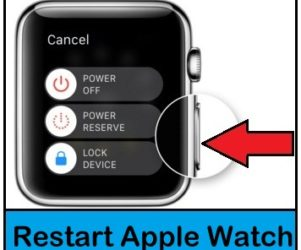 Restart Apple Watch