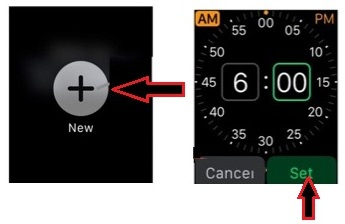 steps to create alarm clock on apple watch