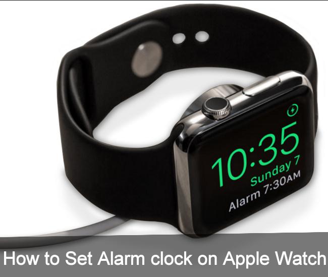 set alarm clock on Apple Watch for Nightstand Mode