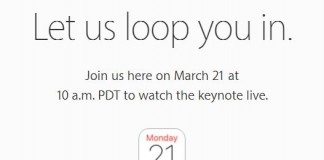 Watch apple live streaming 21 march on Apple Device