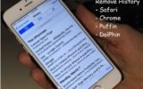 Remove browsing history from iPad and iPhone