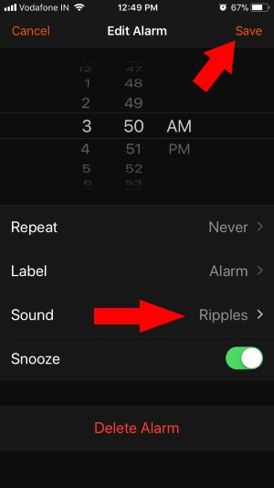 2 Change Alarm Sound on iPhone Alarm App
