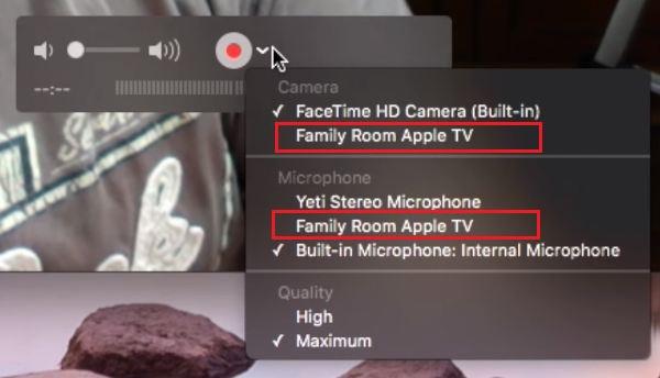 Record Apple TV 4 video or audio