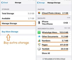 Make space on iCloud from iPhone