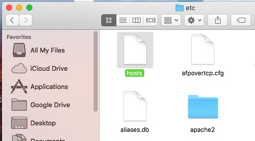Hosts file Location on Mac OS X