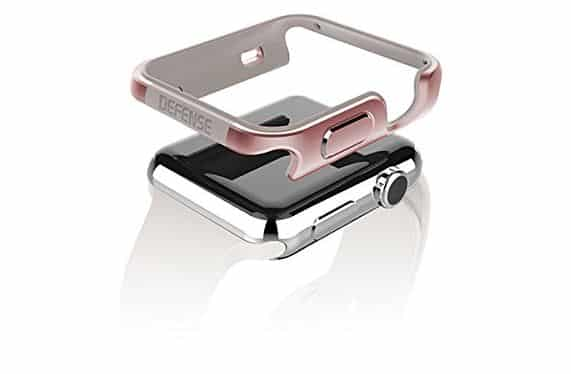 Metal body protection case for apple watch