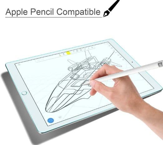 Apple pencil supported iPad pro glass protector by 9.7