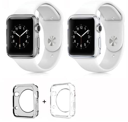 Crystal clear apple watch bumper case