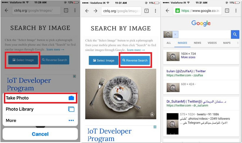 search image on iPhone using image ctrlq.org