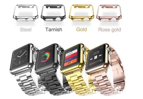 Multi color apple watch metal band