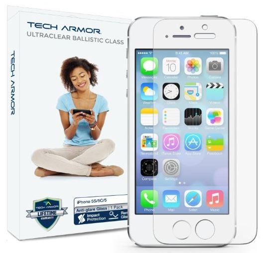 Screen protector for iPhone SE by Tech Armor