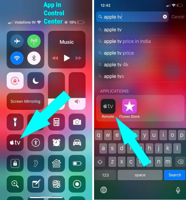 Apple TV remote app on iOS device - Setup and Enable Guide