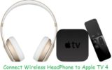 Connect Bluetooth headphone to apple TV 4 steps by step