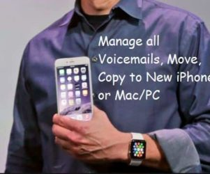 Copy, Transfer or move or save iPhone voicemails to another iOS device