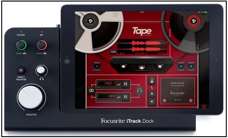 Focusrite iTrack Professional best ipad Audio interface dock 2016