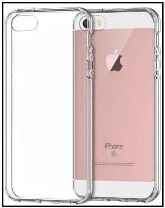 JETech iPhone SE clear Case bumper