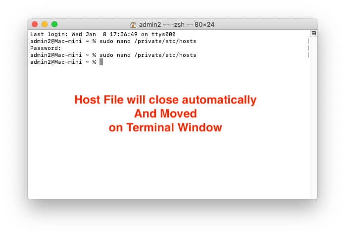 Move back to terminal on Mac