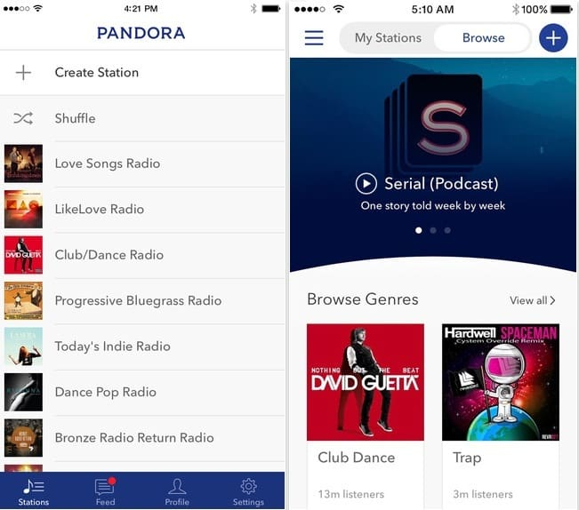 Free Pandora the Best internet Radio apps for iPhone offers for Apple Watch 2016