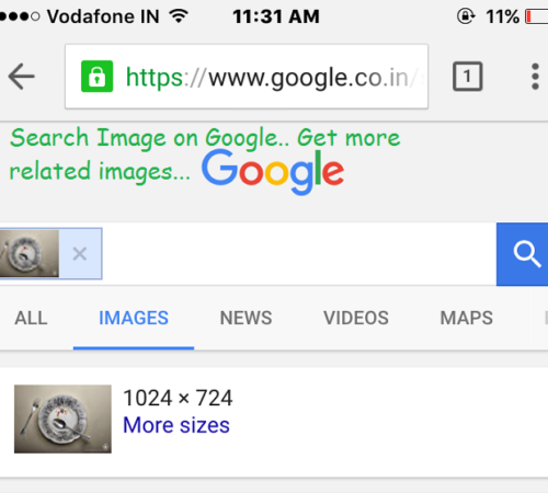 Google reverse image search for iPhone browser