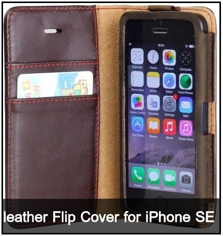 iPhone SE leather Case Wallet 2016