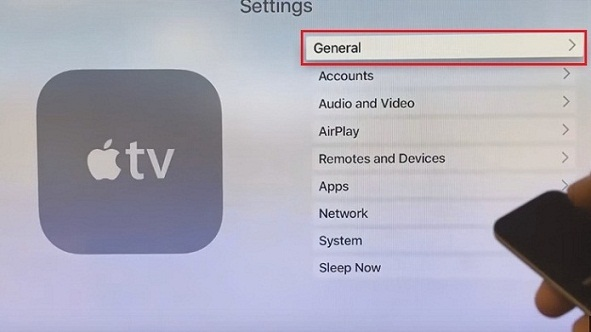 Apple TV 4 general settigns