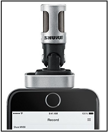 Shure microphone for iPad, iPhone, iPod Touch
