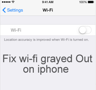 iPhone Wi-Fi grayed out or looking Dim color how to fix