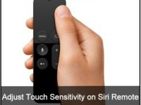 how to to setup Apple TV 4 remote touch surface sensitivity