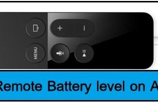 Siri remote Battery level on apple tv 4