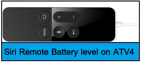 apple tv 4 remote battery
